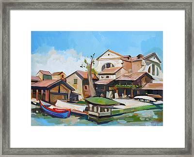Squero Di San Trovaso Framed Print