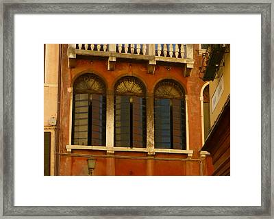 Venetian Shutters Framed Print by Connie Handscomb