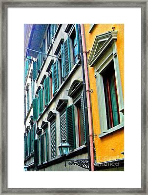 Venetian Shutters Framed Print