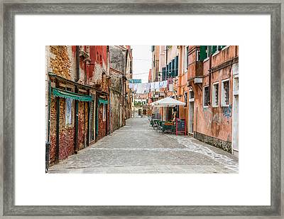 Venetian Street Framed Print