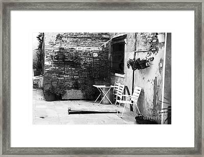 Venetian Street Scene Framed Print by John Rizzuto