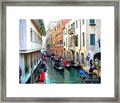 Venetian Traffic Jam Framed Print