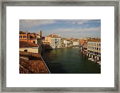Venetian View Of The Grand Canal  Framed Print by Georgia Mizuleva