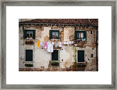 Venetian Washing Framed Print