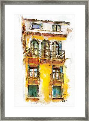 Framed Print featuring the painting Radiant Abode by Greg Collins