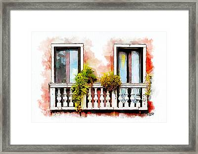 Venetian Windows 5 Framed Print by Greg Collins