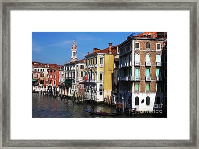 Venezia Colors Framed Print by John Rizzuto