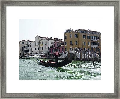 Venezia Gondola Canale Framed Print by Irina Sztukowski