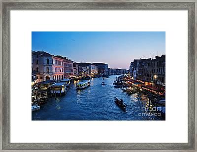 Venezia - Il Gran Canale Framed Print
