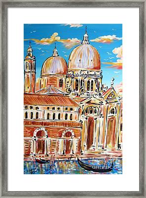 Venezia In Gondola Framed Print by Roberto Gagliardi