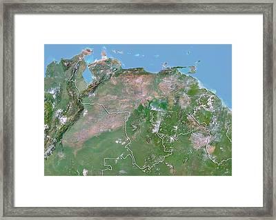 Venezuela Framed Print by Planetobserver/science Photo Library