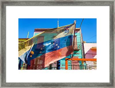 Venezuelan Flag Framed Print by Jess Kraft