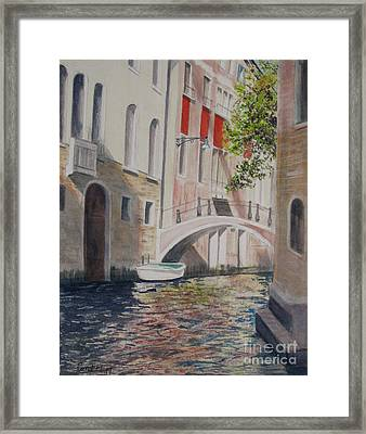 Framed Print featuring the painting Venice 2000 by Carol Flagg