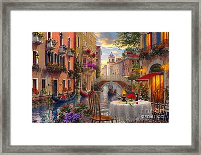Venice Al Fresco Framed Print by Dominic Davison