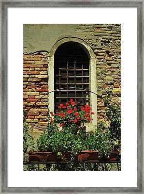 Venice Antique Window Framed Print