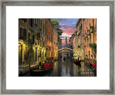 Venice At Dusk Framed Print by Dominic Davison