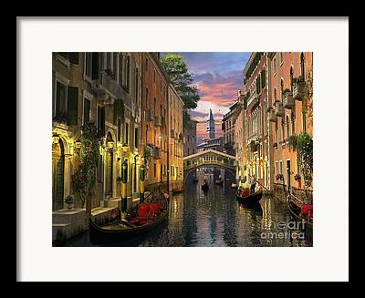 Italian Landscape Digital Art Framed Prints