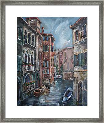 Venice At Dusk Framed Print