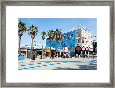 Venice Beach Boardwalk Framed Print