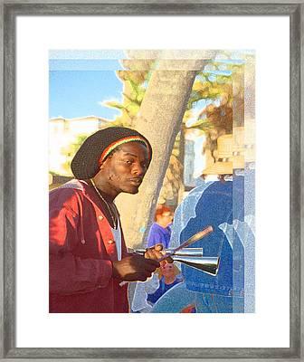 Venice Beach Percussionist Framed Print by Alice Ramirez