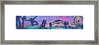 Venice Beach To Santa Monica  Purple Framed Print by Tony B Conscious