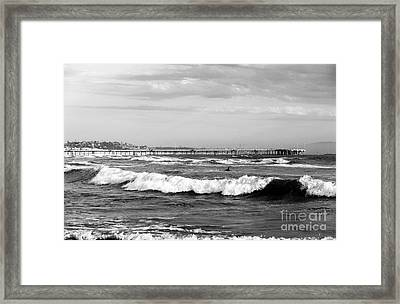 Venice Beach Waves IIi Framed Print by John Rizzuto
