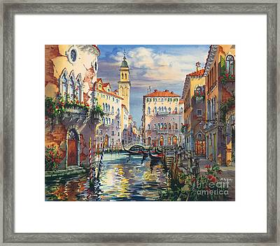 Venice Before Sunset Framed Print