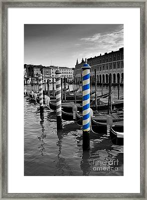Venice Blue Framed Print