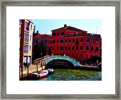 Venice Bow Bridge Framed Print by Bill Cannon