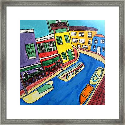 Venice Framed Print by Artists With Autism Inc