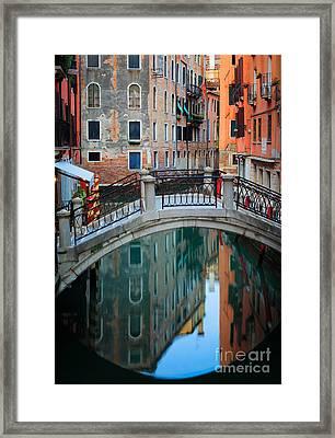 Venice Bridge Framed Print by Inge Johnsson