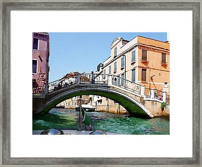 Venice Bridge Framed Print