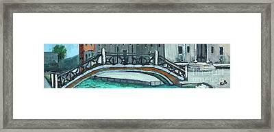 Venice Bridge Framed Print by Rita Brown