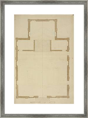 Venice Building Floor Plan Framed Print by British Library