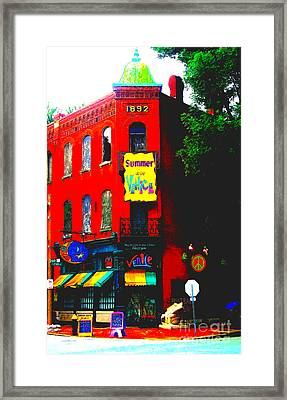 Venice Cafe' Painted And Edited Framed Print