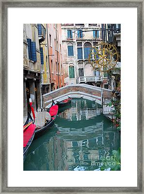 Venice Canal And Buildings Framed Print