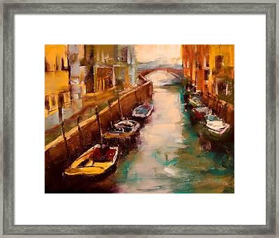 Venice Canal Framed Print by David Patterson