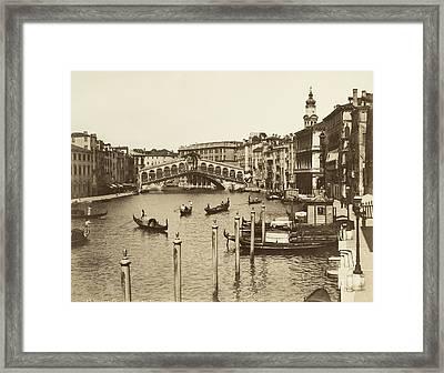 Venice Canal Grande Framed Print