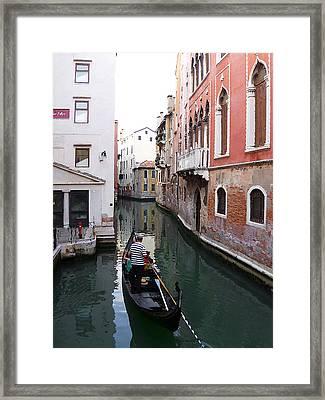 Venice Canal   Framed Print by Irina Sztukowski
