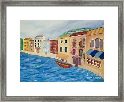 Venice Canal Part 2 Framed Print by Nicole Burnett