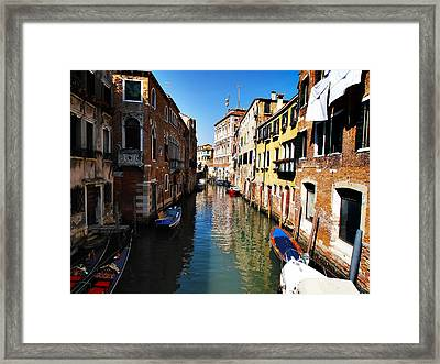Venice Canal Framed Print by Bill Cannon