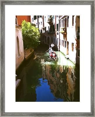 Venice Canal Framed Print by Paul Tagliamonte