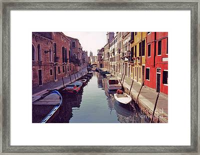 Framed Print featuring the photograph Venice Canal by Rita Brown