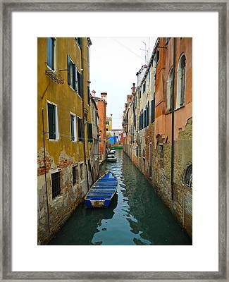 Framed Print featuring the photograph Venice Canal by Silvia Bruno