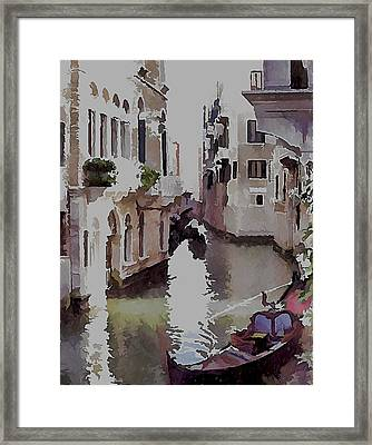Venice Canal Today 3 Framed Print