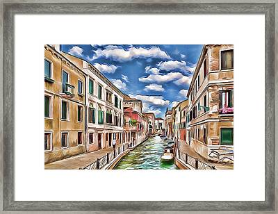 Venice Canal Today Framed Print
