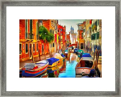 Venice Canals 20 Framed Print