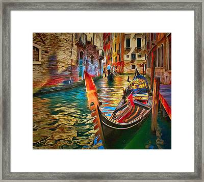 Venice Canals Beauty 4 Framed Print