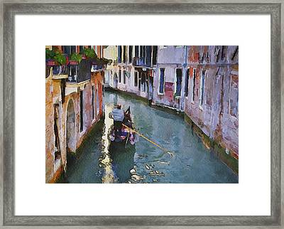 Venice Canals Watercolor 12 Framed Print by Yury Malkov