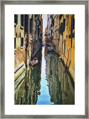 Venice Canals Watercolor 3 Framed Print